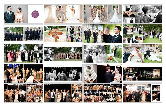 Wedding Album Template Classic Design 14 By PhotographicElements, $40.00  Free Album Templates