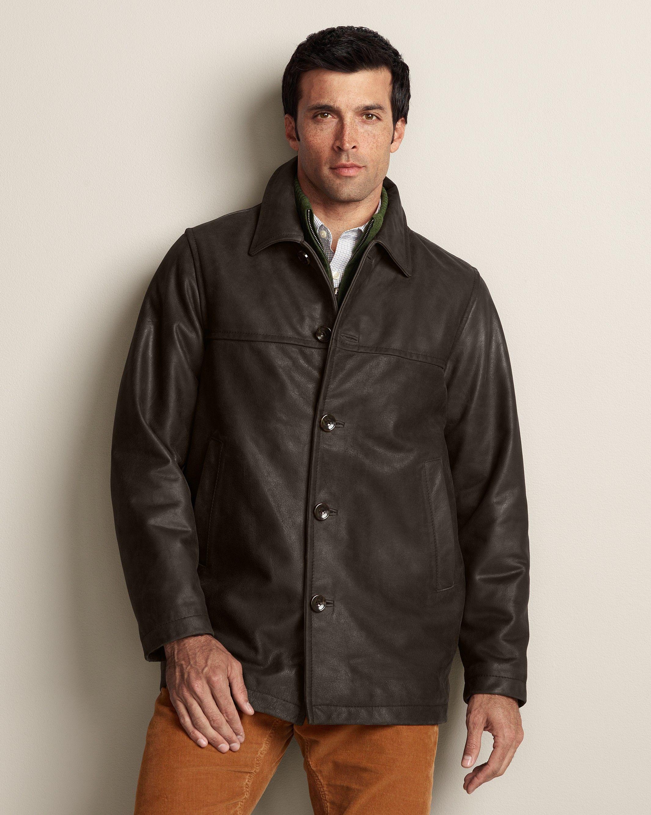 Leather Car Coat | Eddie Bauer - $319 | Sources for decent Men's ...