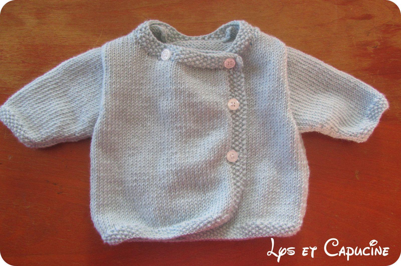 modele tricot layette naissance gratuit