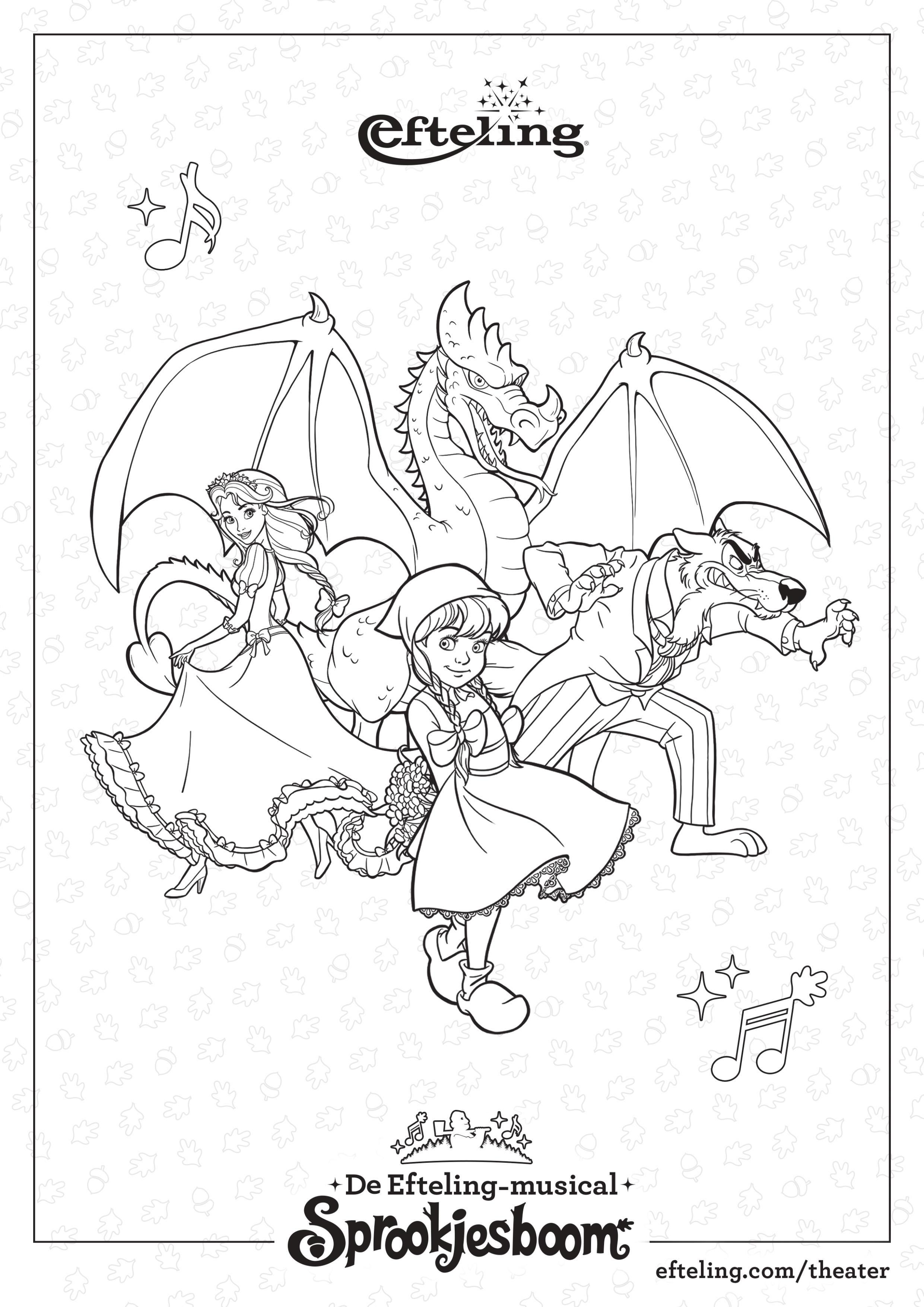 Efteling Kleurplaat Sprookjesboom De Musical Sprookjesboom Kleurplaten Kleuren