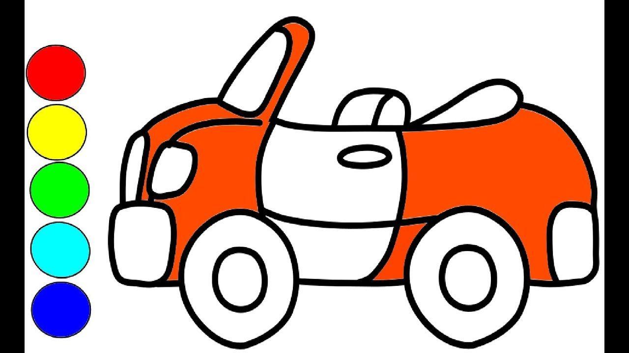 Auto Zeichnen Und Malen Fur Kinder Kabriolett Auto Zeichnen Auto Zeichnen Auto Zeichnungen Selber Malen