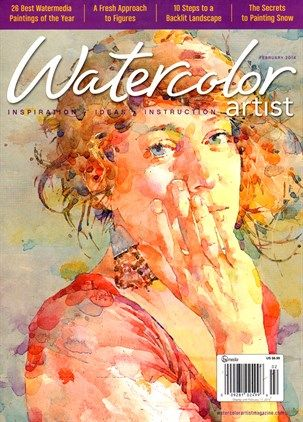 Watercolor Artist Cover For 2 1 2014 Watercolor Artist Print
