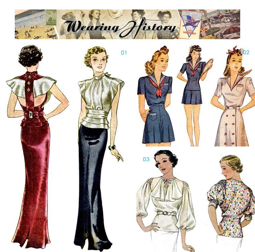 40s Fashion Fashion Vintage Outfits 30s