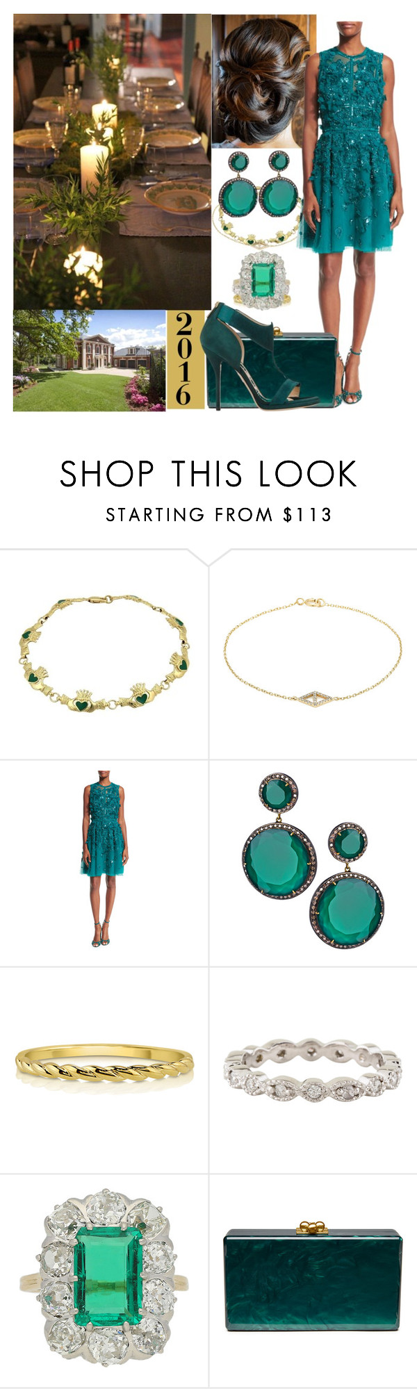 """""""Hosting a New Years Eve dinner at their home for their friends"""" by pompcircumstance ❤ liked on Polyvore featuring lito, Elie Saab, Hari Jewels, BERRICLE, Chaumet, Edie Parker, Leather Head and Paul Andrew"""