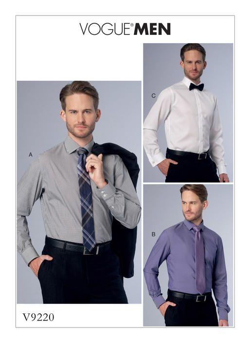 Men\'s shirt sewing pattern V9220 from Vogue Patterns. Standard fit ...