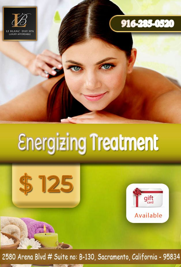 Energizing Treatment 90 mins @ $125 Rejuvenate yourself at our Spa ...