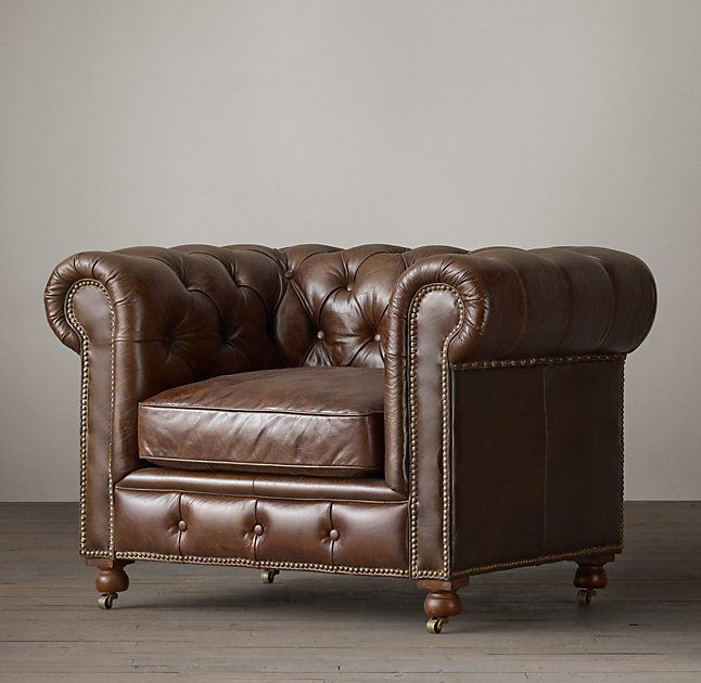 Merveilleux Petite Kensington Leather Chair