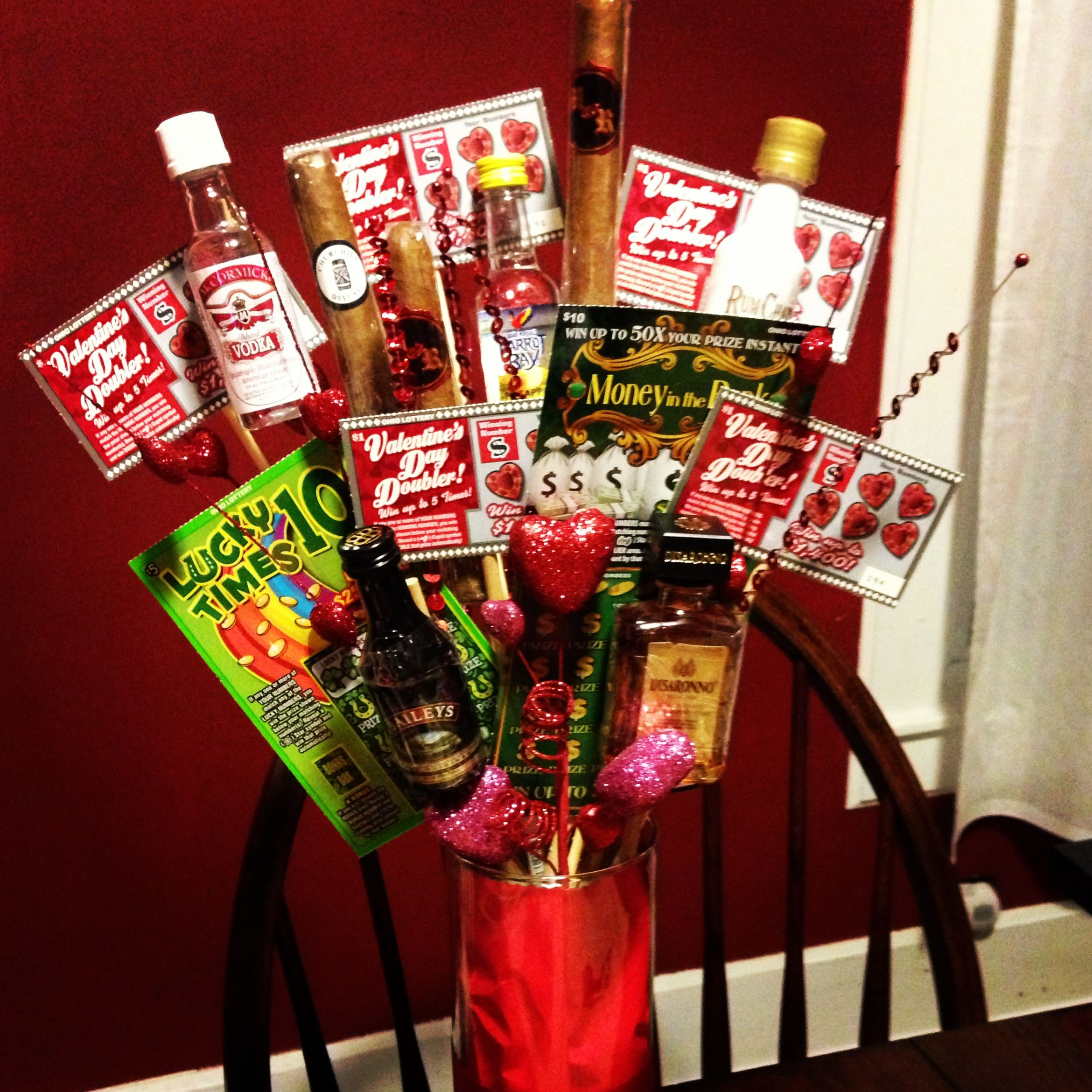 Valentine's Day bro-quet: Liquor, lottery tickets and cigars ...