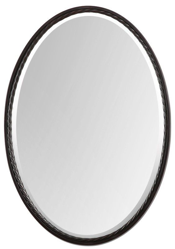 Uttermost 01116 Oil Rubbed Bronze Casalina Oval Twisted Rope Metal Framed Oil Rubbed Bronze Wall Mirror Lightingdirect Com Oil Rubbed Bronze Oval Mirror Rope Mirror Oil rubbed bronze oval mirror