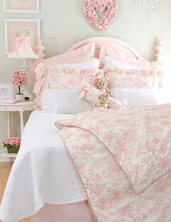 Pink Toile Bedroom