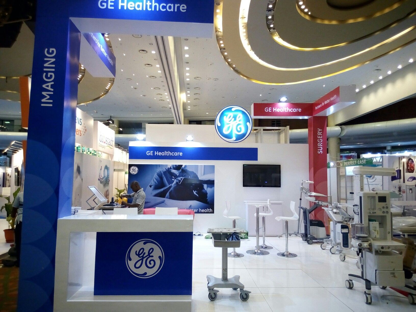 Exhibition Stand Builders In Nigeria : Ge stand nigeria d elevated exhibition services