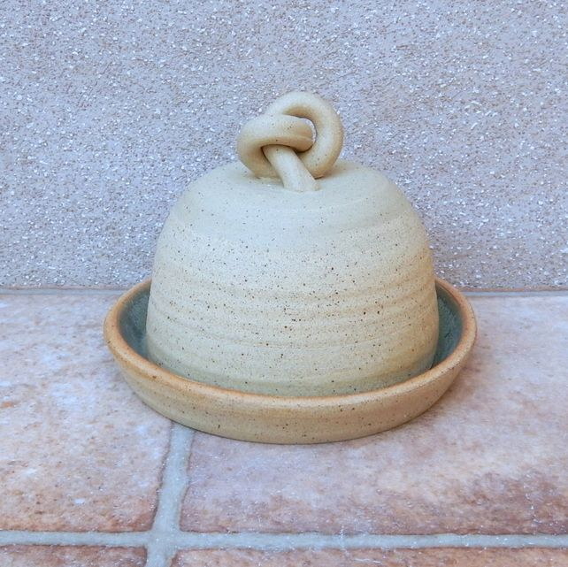 Garlic roaster or butter dish hand thrown stoneware ceramic butter dish pottery