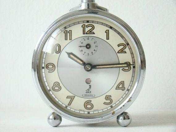 Vintage French Jaz Wind Up Alarm Clock By Culturalpollination