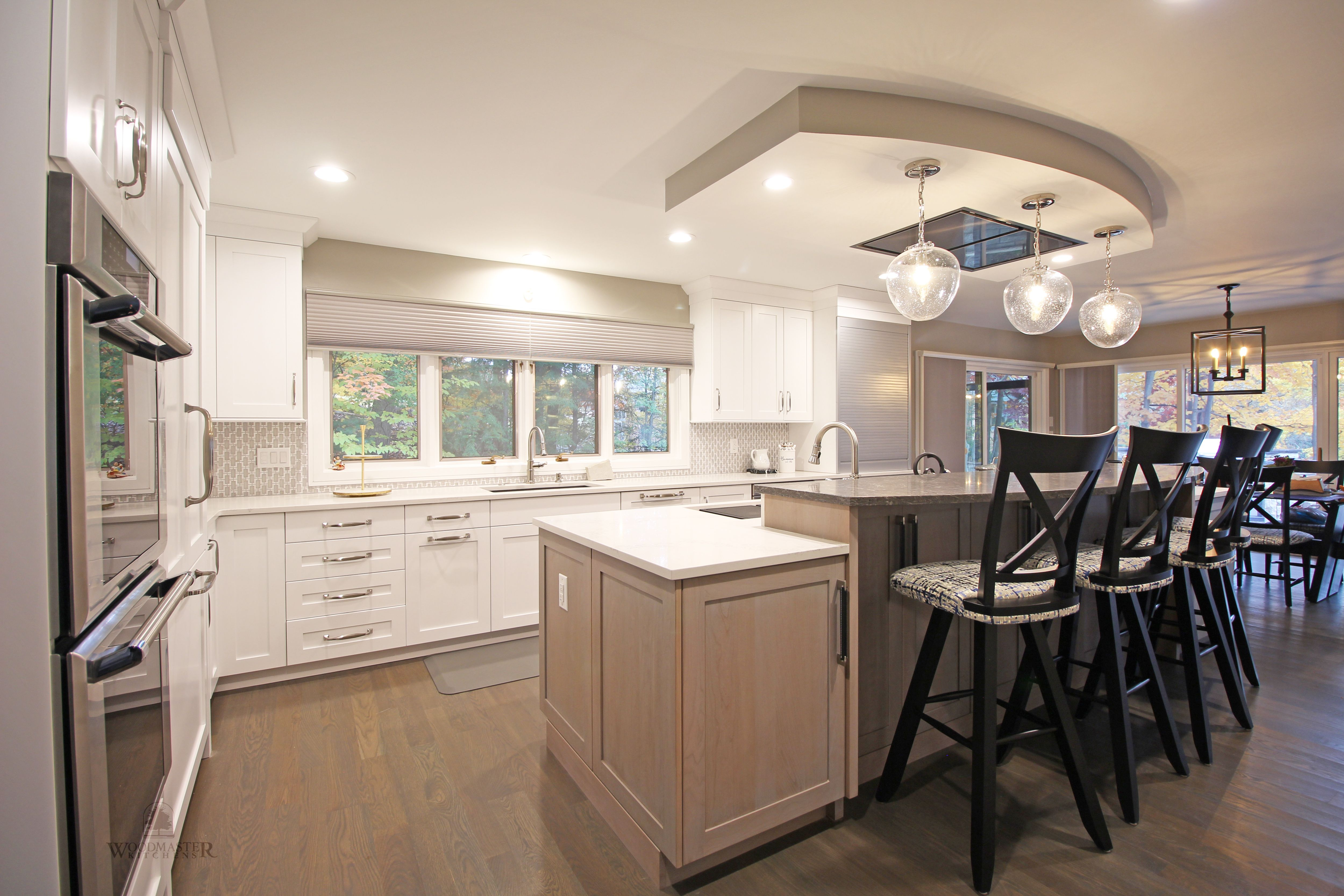 This Transitional Kitchen Design In Farmington Hills Was Done As Part Of A Home Remod Transitional Kitchen Design Bi Level Kitchen Island Large Kitchen Island