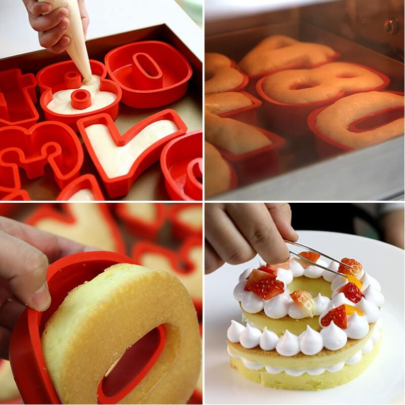 Silicone Mould Tool Cake Decor Chocolate  Alphabet Topper Number Letter DIY