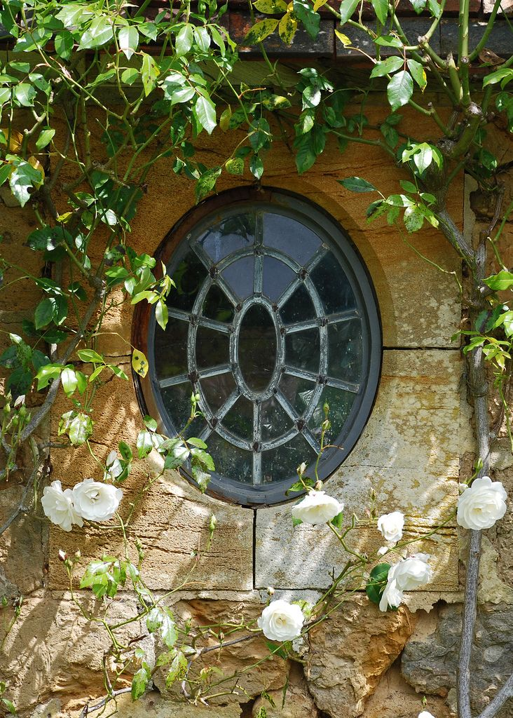 Barrington Court, Somerset | Oval leaded window set in local… | Flickr
