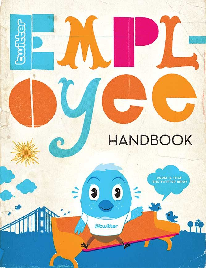 employee handbook cover page template - twitter employee handbook illustrate pinterest