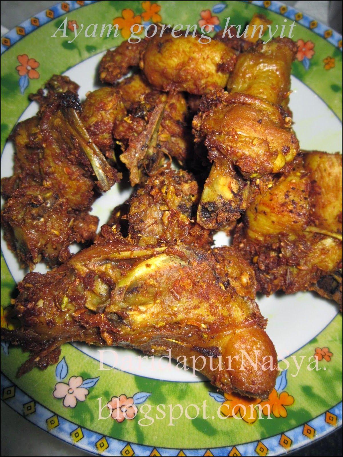 Ayam Goreng Kunyit Berempah Nyonya Food Food Chicken Recipes