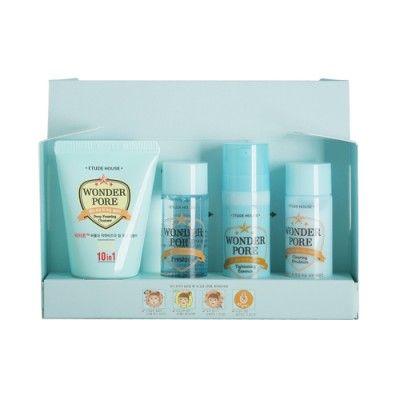 Etude House Sample Wonder Pore Skin Care Sample Kit 1pack 4ea Claras
