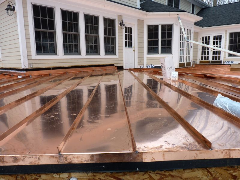 Standing Seam Copper Roof Metal Roof Copper Roof Roofing