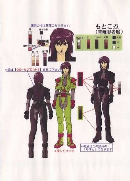 Ghost In The Shell Character Sheet Creation Art