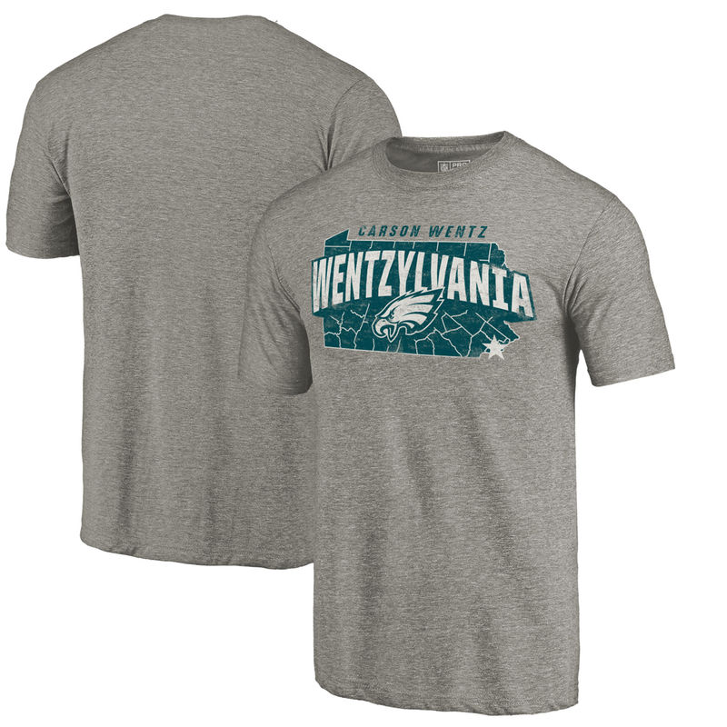 Philadelphia Eagles NFL Pro Line by Fanatics Branded Wentzylvania Hometown  Collection Player Tri-Blend T-Shirt – Heathered Gray 10b7ffb87