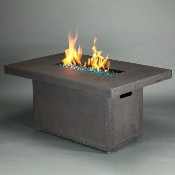 Brixton Chat Height Rectangular Propane Fire Table In Urban Brown 1300 Hidden Tank Fire Pits For Sale Propane Patio Fire Pit Fire Pit Patio