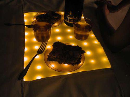 Candle lit picnic