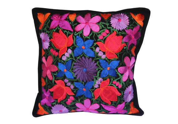 Mexican pillow embroidery