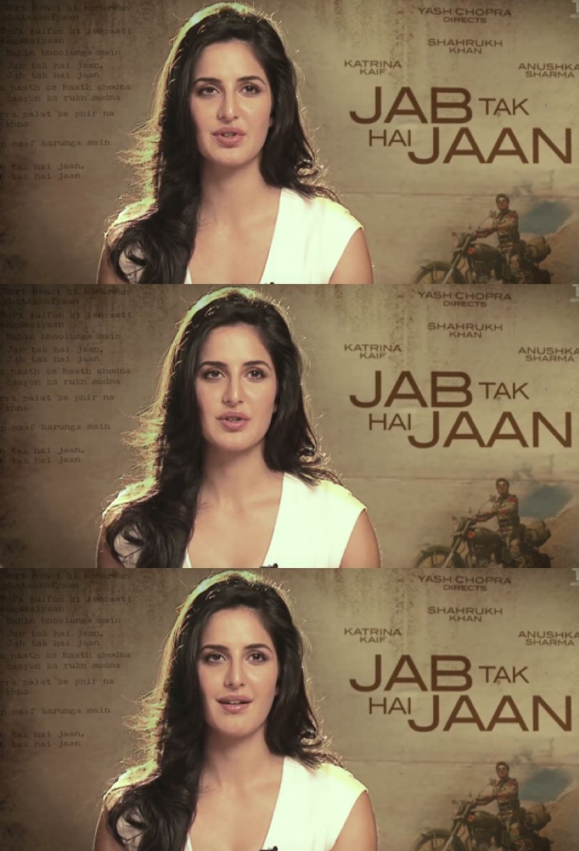 Katrina Kaif Giving Interview For Jab Tak Hai Jaan Making Movie Katrina Kaif Movies Wonder Woman