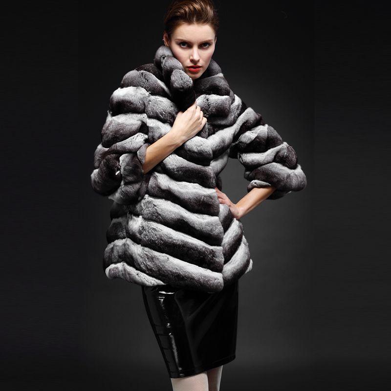 CHINCHILLA: Piel de la Chinchilla, utilizada como abrigo y en guarniciones. Presenta tonalidad gris, finura y suavidad.