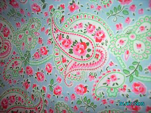 Cath Kidston For Ikea Rosalie Paisley Blue Fabric Two