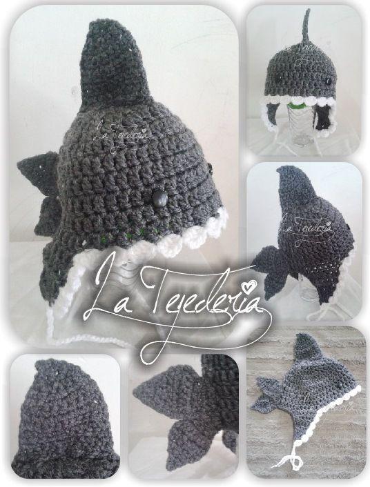f1e7192e34675 shark crochet hat