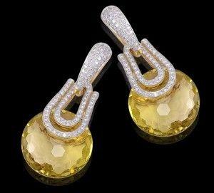 Lemon topaz earrings