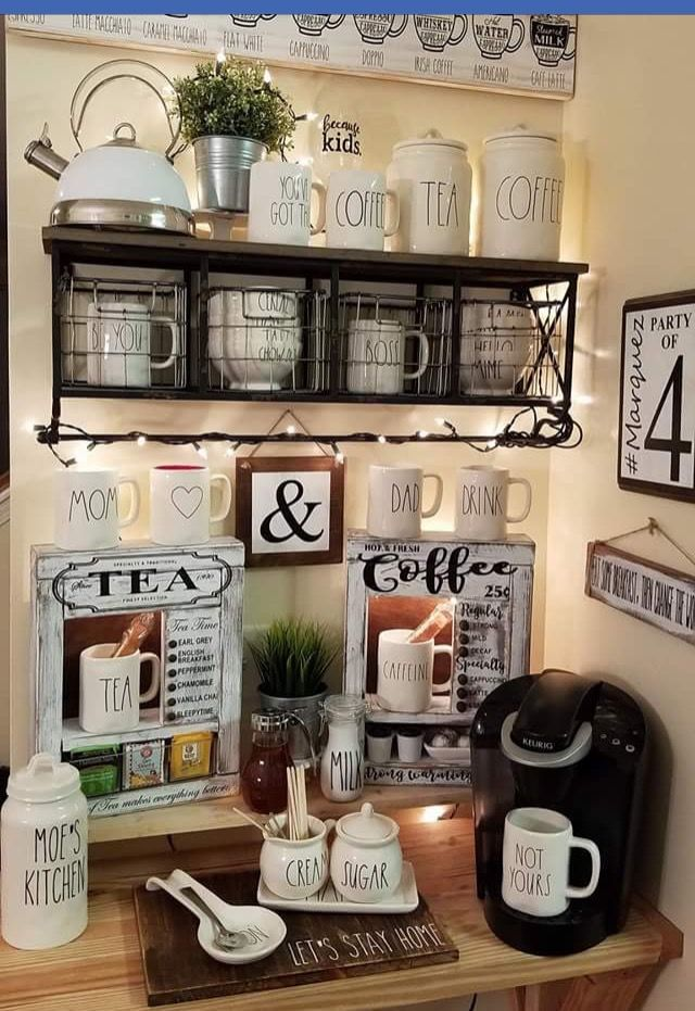 Gorgeous coffee bar ideas for home coffeebar coffeebardesign coffeestation coffeestationideas diycoffeebar also best diy all lovers rh pinterest