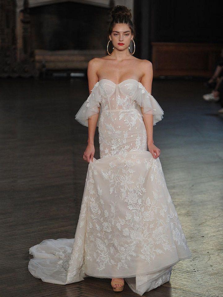 Berta bridal fall 2017 off-the-shoulder sleeves| itakeyou.co.uk #wedding #weddingfashion #bridal #weddingdress #weddinggown #bridalgown #weddingdresses #weddinggowns #berta #bridalinspiration #weddinginspiration #engaged