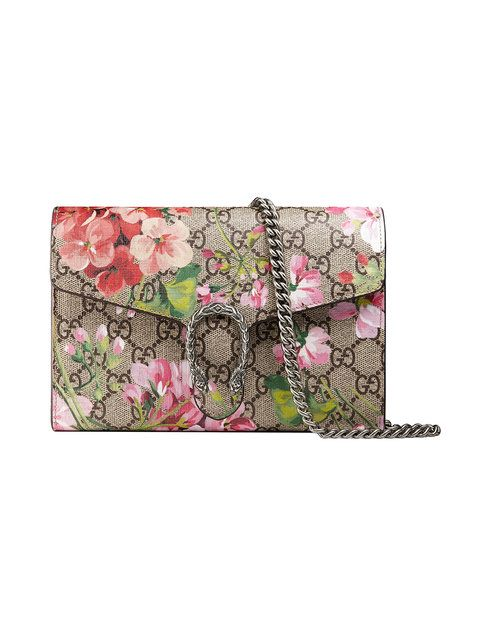 Shop Gucci Dionysus Blooms print mini chain bag.  3fe24e0b18fa3