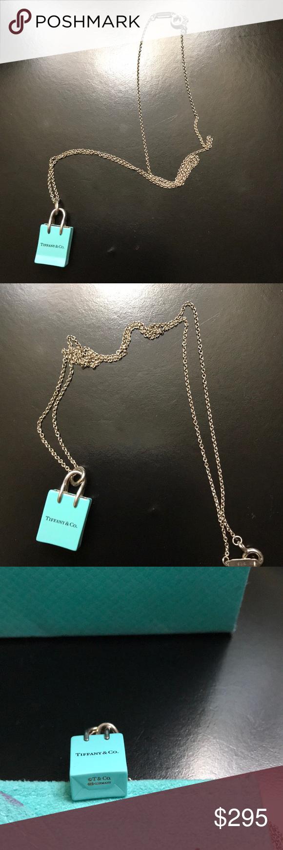 3f8a23c892 Authentic Tiffany&Co. Shopping Bag Charm and Chain EUC! Iconic shopping bag  charm with Tiffany