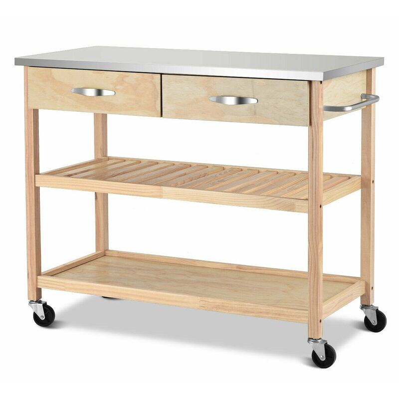 Gillies Rolling Kitchen Cart Kitchen Trolley Cart Stainless Steel Countertops Countertops