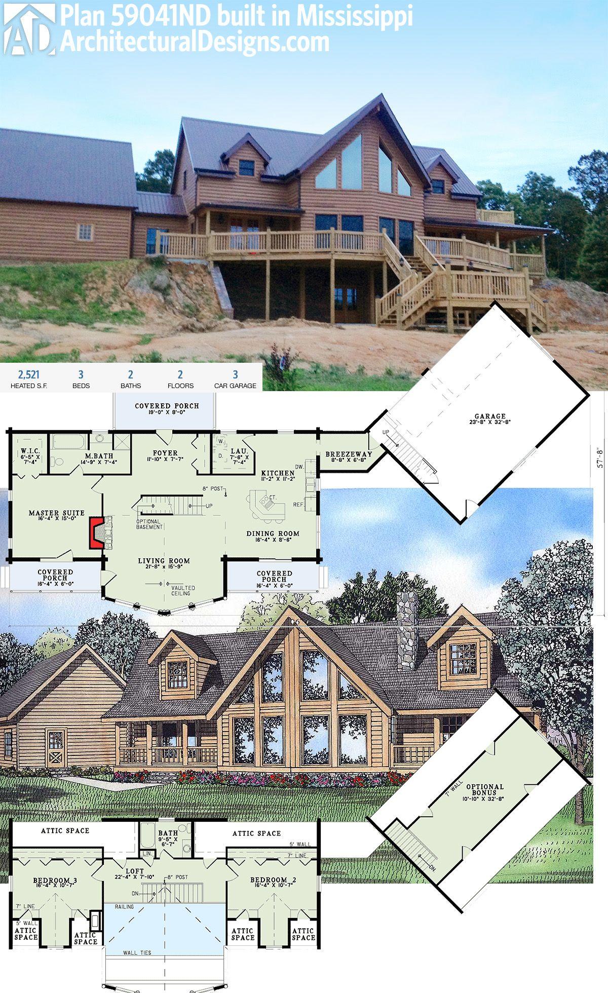 Plan 59041nd Log Home Elegance House Plans Architectural House Plans Deck Building Plans