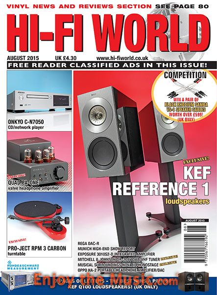 Hi-Fi World's August issue is now on EnjoyTheMusic com  This issue