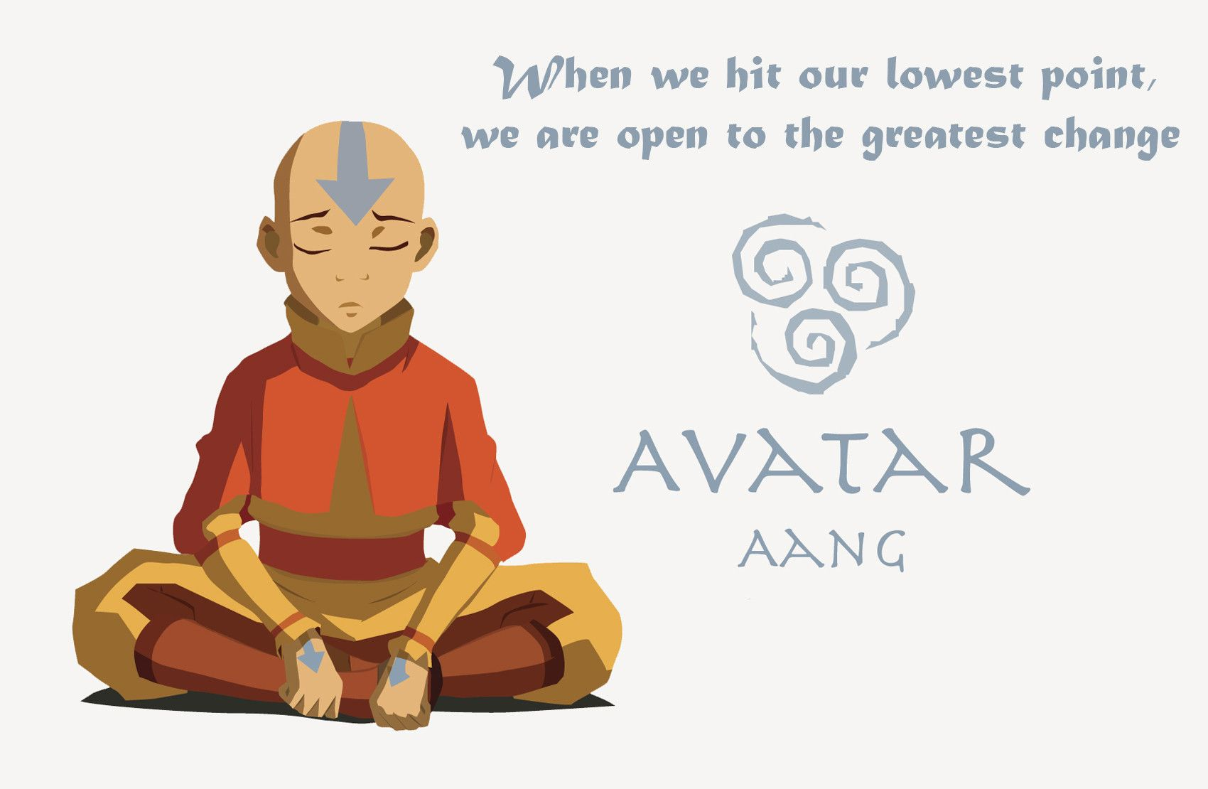 """""""When we hit our lowest point..."""" Aang [OC] [1700x1110"""