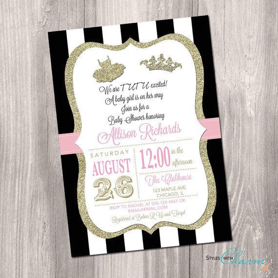 Tutu Baby Shower Invitation Tutu And Tiara By StyleswithCharm