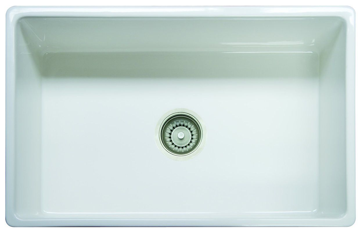 Franke Farm House FHK71030WH Farmhouse Kitchen Sink, Single Basin ...