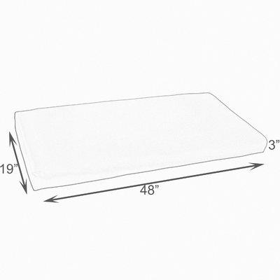 Mozaic Company Kaelyn II Geometric Indoor/Outdoor Bench Cushion Size