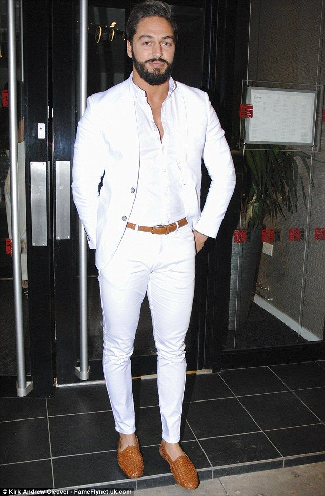 Mario Falcone and Emma McVey match in white as they hit