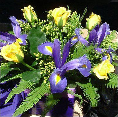 Floral Arrangement Iris FlowersWedding Bouquets25th Wedding AnniversaryTable