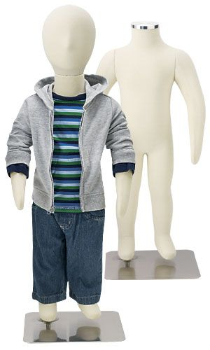Childrens Fully Flexible Body Dress Form Kids Mannequin 5 Year Old