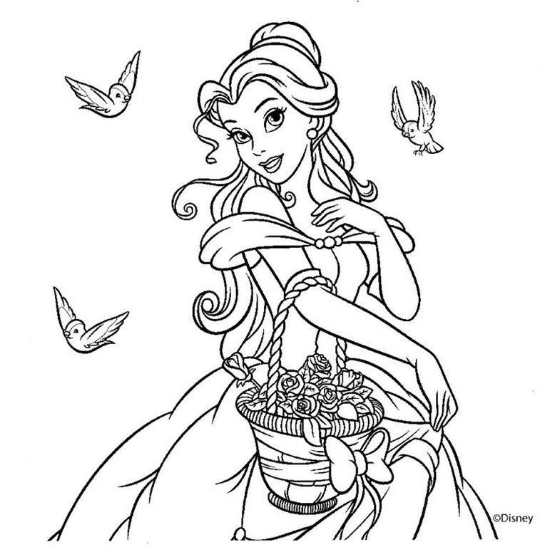 Desenhos para colorir - Desenhos para imprimir das princesas ...