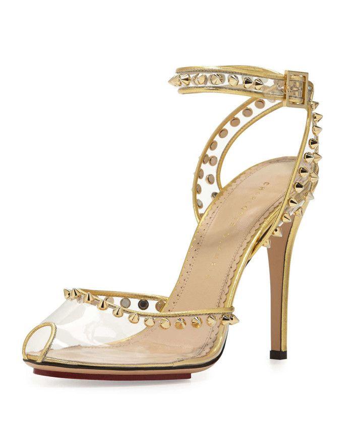 studded platform shoes - White Charlotte Olympia q07bNNH7